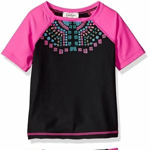 Jessica Simpson Girls' 2-Piece Rashguard Set